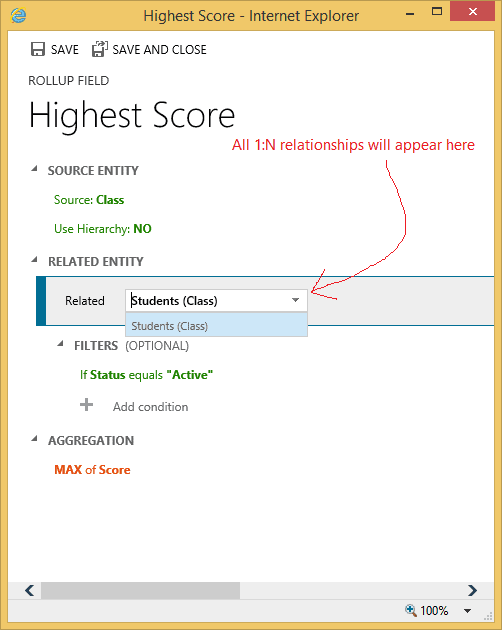 CRM 2015 Feature 4 – Rollup and Calculated Fields