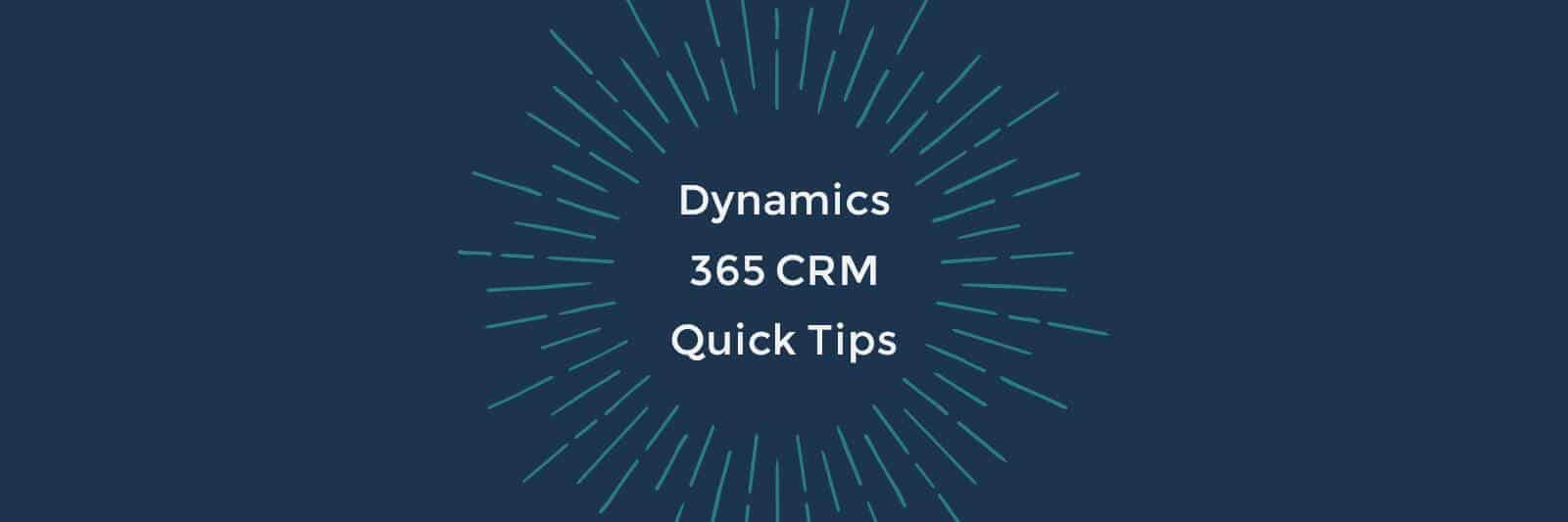 Dynamics 365 QuickTips – How do I set up Goals?