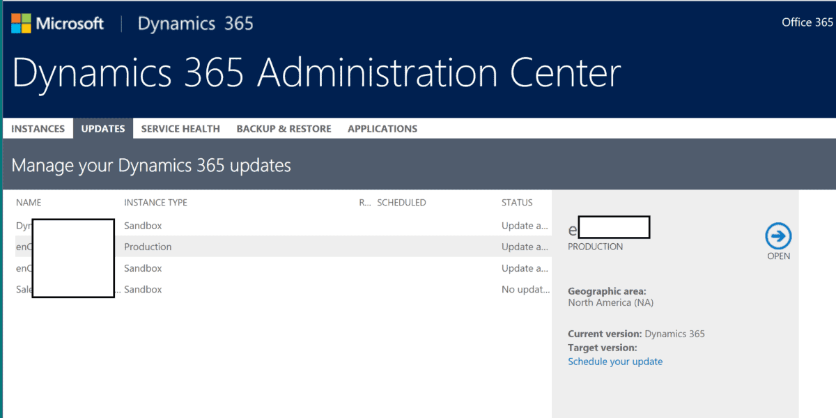 365 update 1 It's Time to Schedule Your Dynamics 365 July 2017 Update