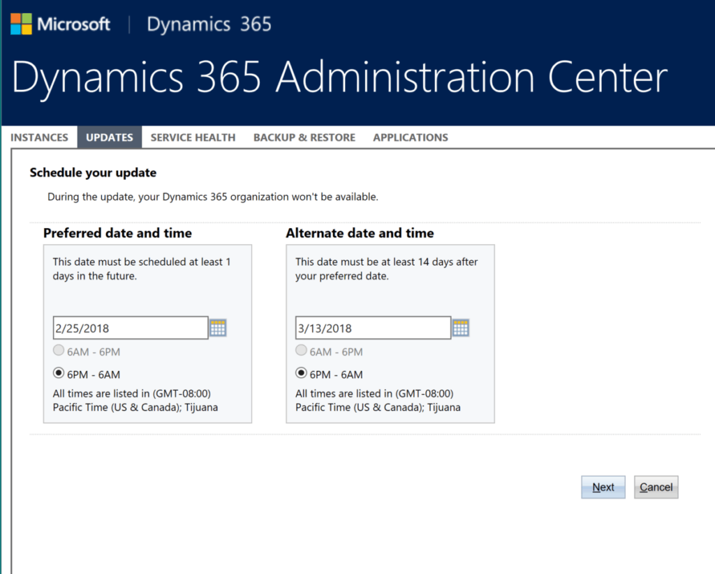 365 update 3 1024x823 It's Time to Schedule Your Dynamics 365 July 2017 Update
