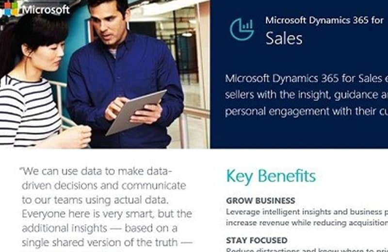Dynamics 365 for Sales Datasheet