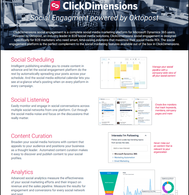 ClickDImensions Social Engagement by OktoPost