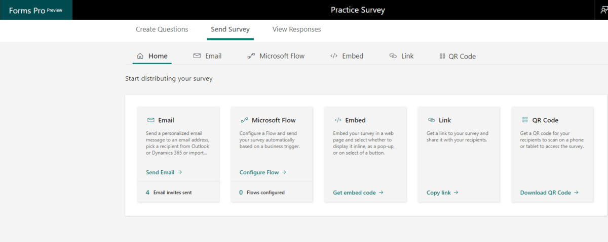Sending Quizzes and Surveys | Microsoft Forms Pro | enCloud9 Social CRM Consultants
