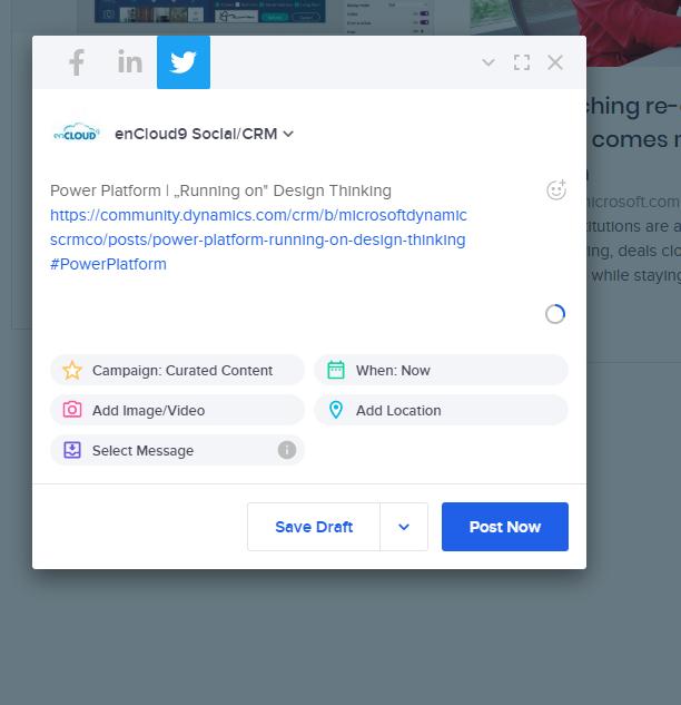 ClickDimensions Social Engagement   enCloud9