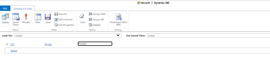 Advanced Find |Dynamics 365 |enCloud9