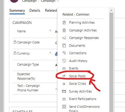 Campaign integration   Dynamics 365   ClickDimensions Social Media Marketing   encloud9